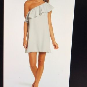 Polly Plays One Shoulder Dress Freeway Gray